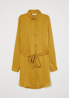 H&M H & M - Blouse with Tie Belt - Yellow