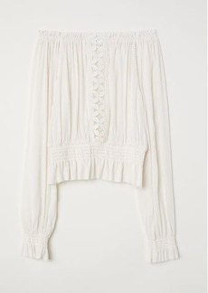 H&M H & M - Crinkled Blouse - White