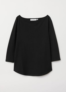 H&M H & M - Boat-neck Top - Black