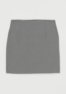 H&M H & M - Bouclé Skirt - Black