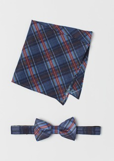 H&M H & M - Bow Tie and Handkerchief - Blue