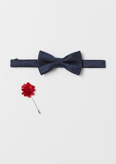 H&M H & M - Bow Tie and Lapel Pin - Blue
