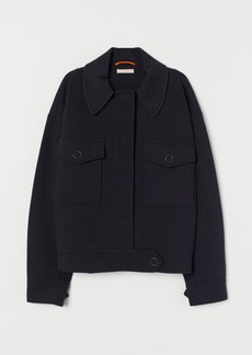 H&M H & M - Boxy Jersey Jacket - Blue