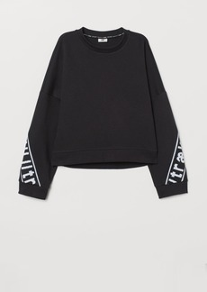 H&M H & M - Boxy Sports Top - Black