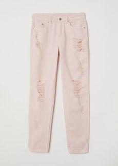 H&M H & M - Boyfriend Slim Low Jeans - Pink