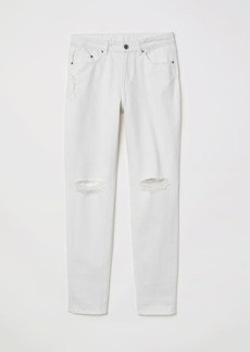 H&M H & M - Boyfriend Slim Low Jeans - White