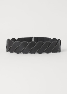 H&M H & M - Braided Waist Belt - Black