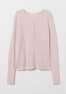 H&M H & M - Cable-knit Cardigan - Pink