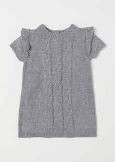 H&M H & M - Cable-knit Dress - Gray
