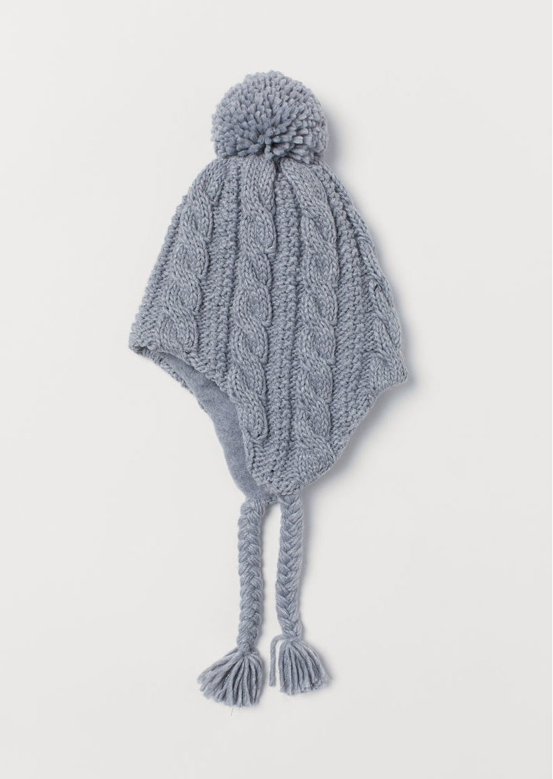 H&M H & M - Cable-knit Hat - Gray