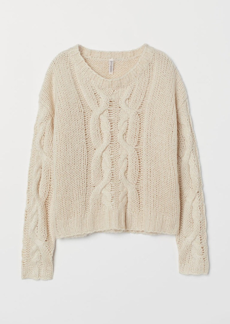 H&M H & M - Cable-knit Sweater - Beige