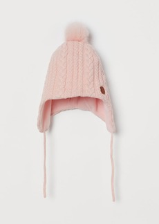 H&M H & M - Cable-knit Pompom Hat - Pink