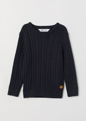 H&M H & M - Cable-knit Sweater - Blue