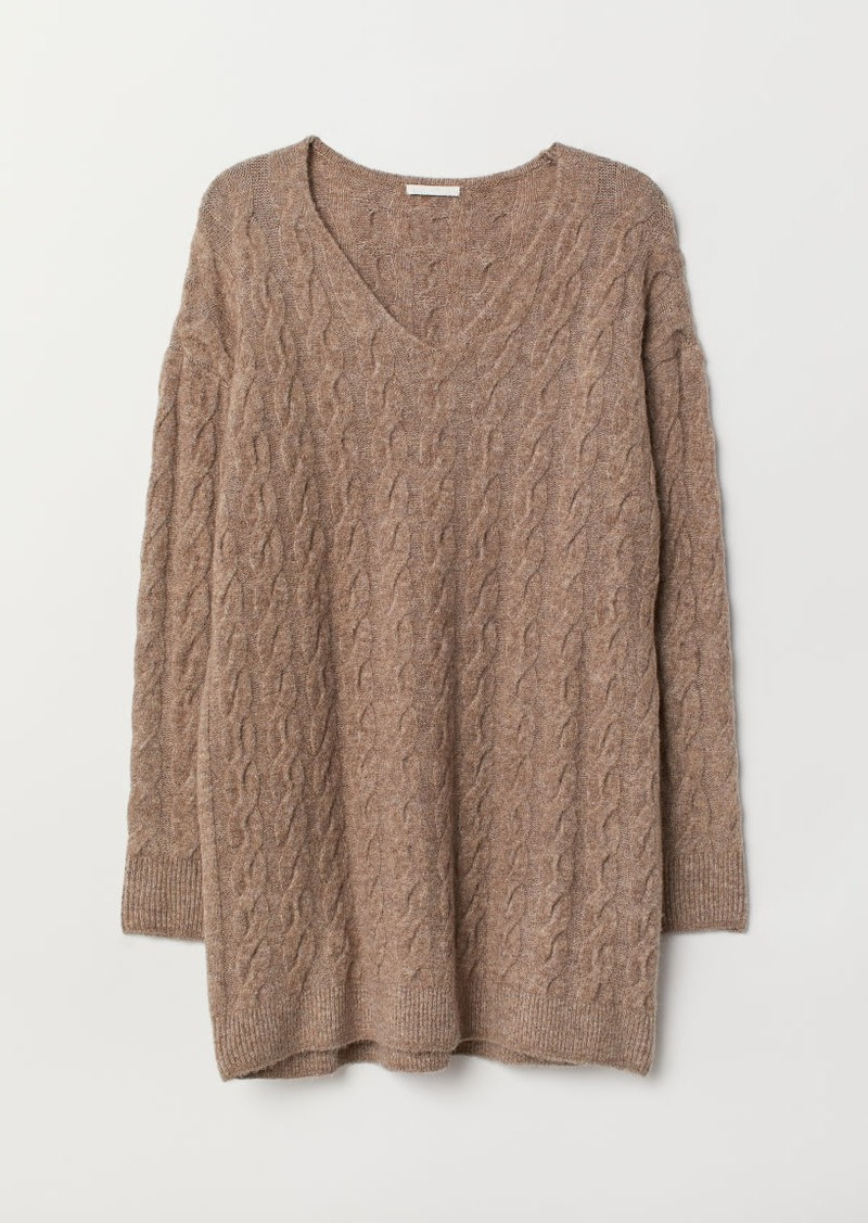 H&M H & M - Cable-knit Sweater - Brown