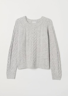 H&M H & M - Cable-knit Sweater - Gray