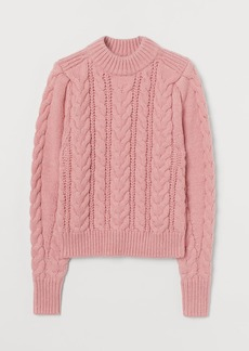 H&M H & M - Cable-knit Sweater - Pink