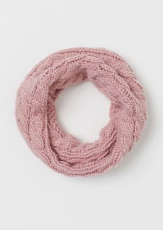 H&M H & M - Cable-knit Tube Scarf - Pink