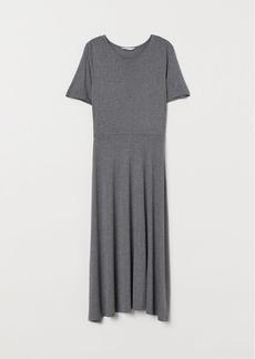 H&M H & M - Calf-length Jersey Dress - Gray