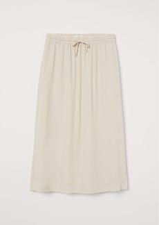 H&M H & M - Calf-length Skirt - Beige