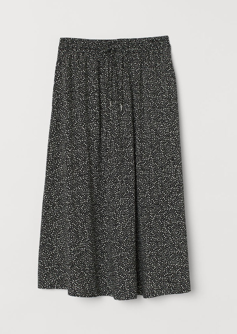 H&M H & M - Calf-length Skirt - Black