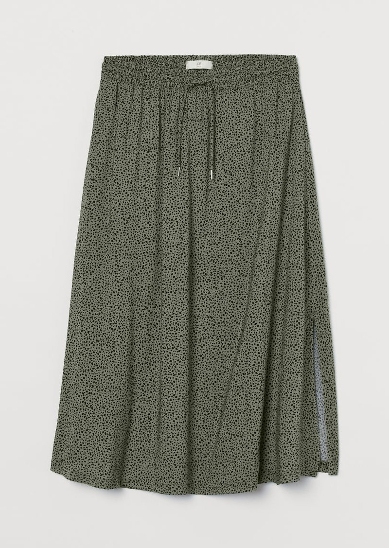 H&M H & M - Calf-length Skirt - Green