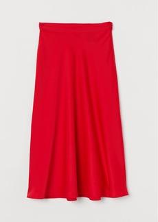 H&M H & M - Calf-length Skirt - Red