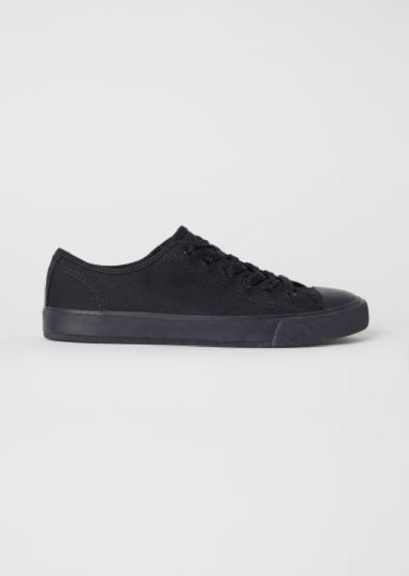 ccc15d2fa62d H M H   M - Canvas Shoes - Black