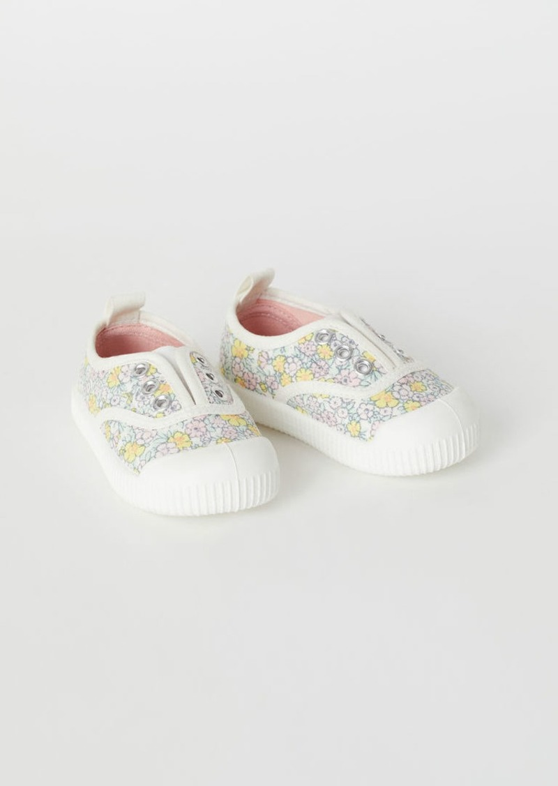 H&M H & M - Canvas Slip-on Sneakers - White
