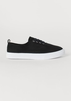 H&M H & M - Canvas Sneakers - Black