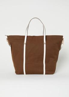H&M H & M - Canvas Weekend Bag - Beige