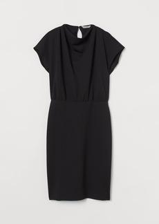 H&M H & M - Cap-sleeved Dress - Black