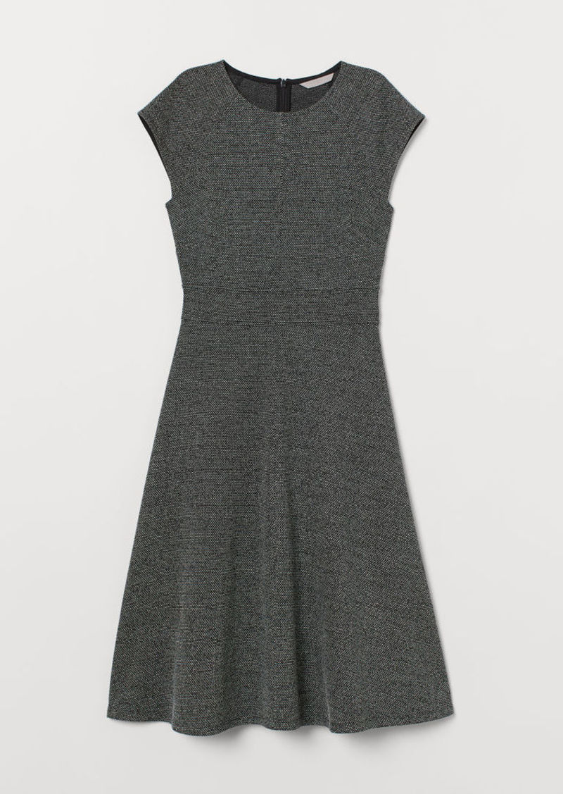H&M H & M - Cap-sleeved Dress - Black