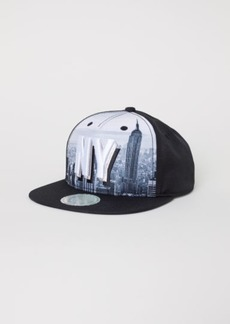 H&M H & M - Cap with Appliqué - Black
