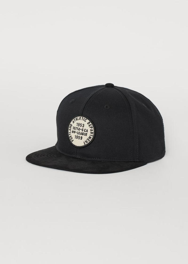 H&M H & M - Cap with Appliqué - Black