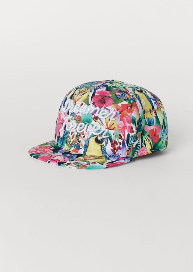 H&M H & M - Cap with Embroidery - White