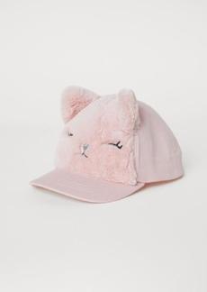 H&M H & M - Cap with Faux Fur - Pink