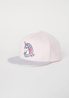 H&M H & M - Cap with Glittery Visor - Pink