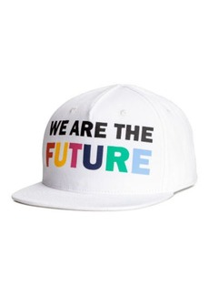 H&M H & M - Cap with Printed Design - White