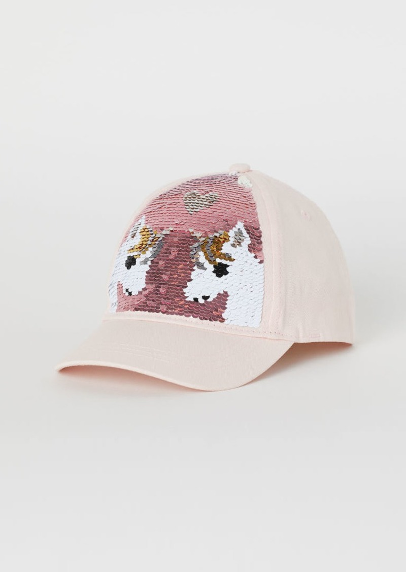 H&M H & M - Cap with Reversible Sequins - Pink