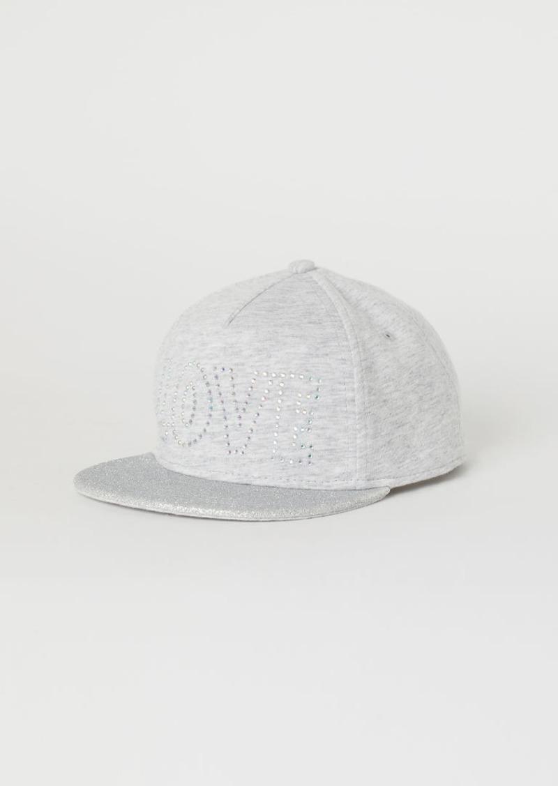 H&M H & M - Cap with Text Motif - Gray