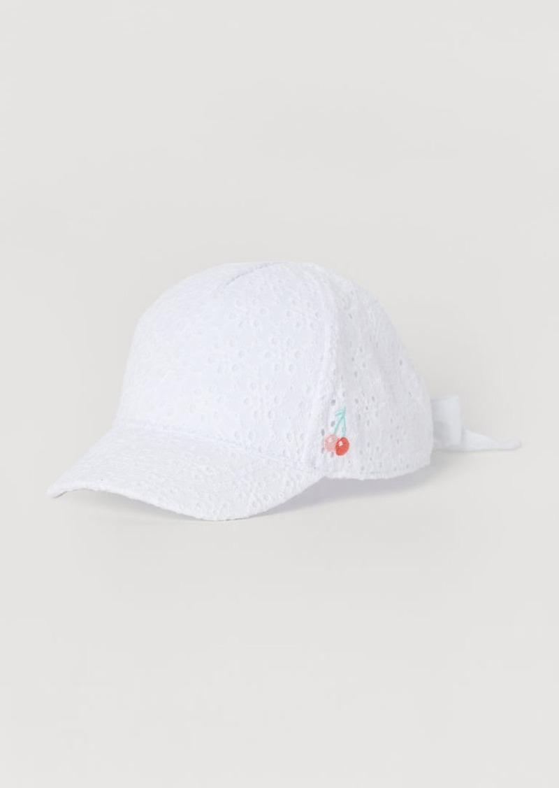 H&M H & M - Cap with Ties - White