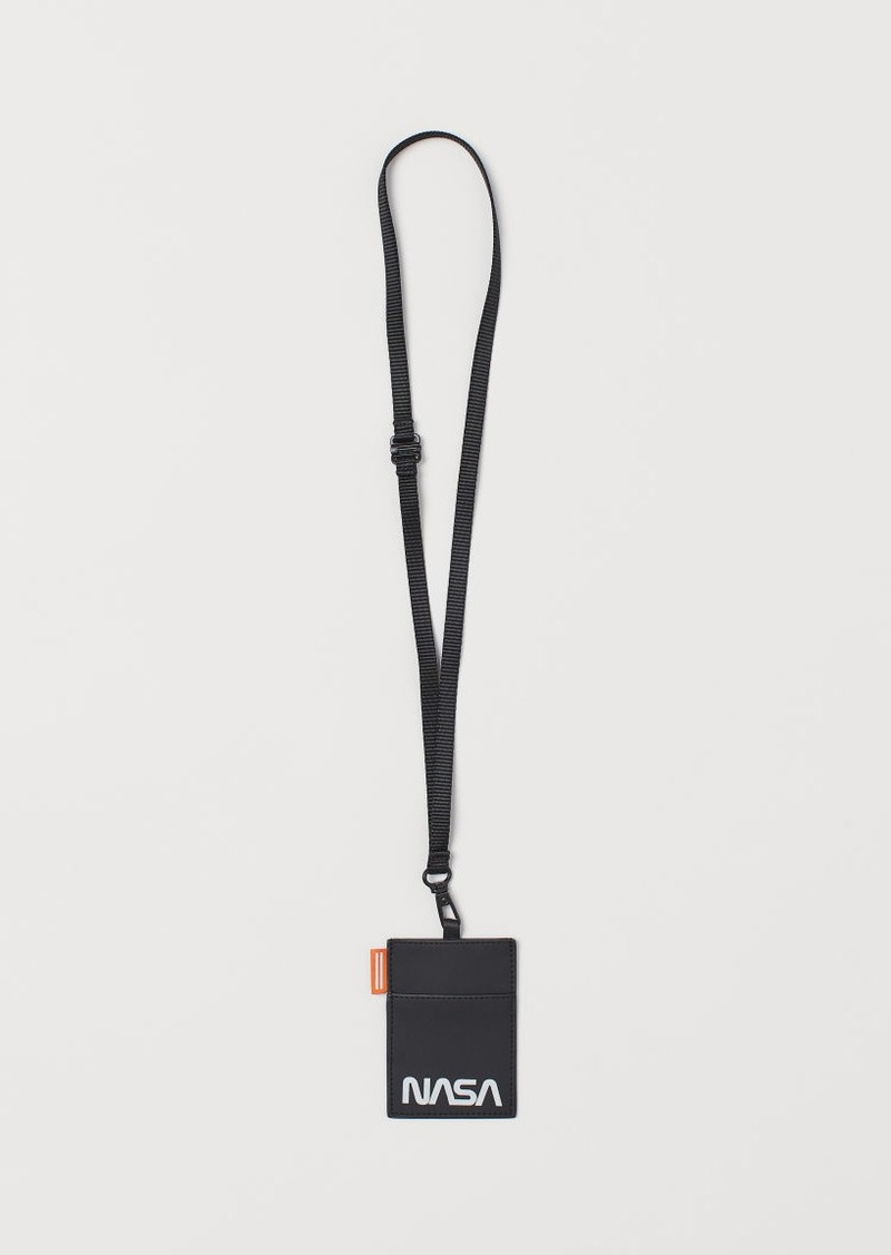 H&M H & M - Card Case with Strap - Black