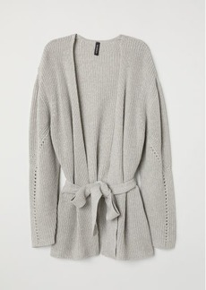 H&M H & M - Cardigan with Tie Belt - Gray