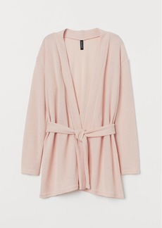 H&M H & M - Cardigan with Tie Belt - Pink
