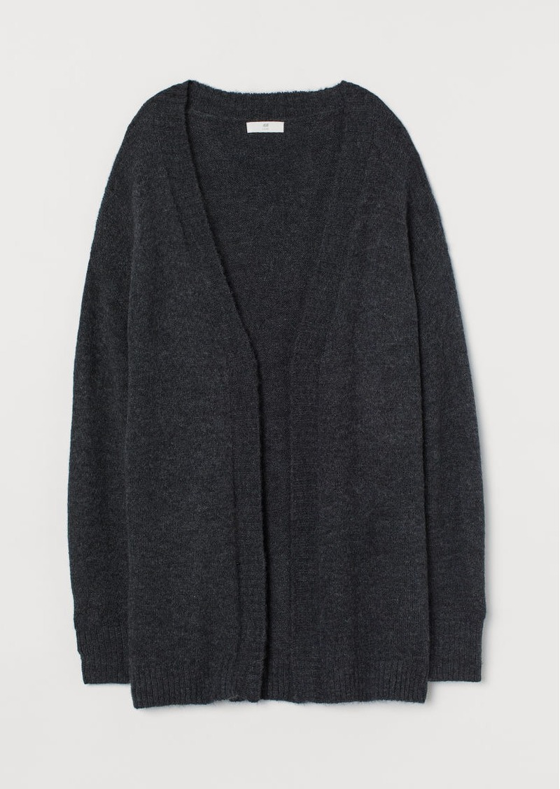H&M H & M - Cardigan without Buttons - Gray