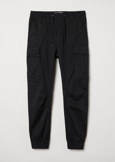 H&M H & M - Cargo Joggers - Black