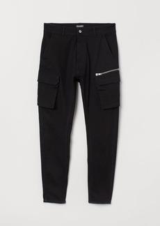 H&M H & M - Cargo Pants - Black