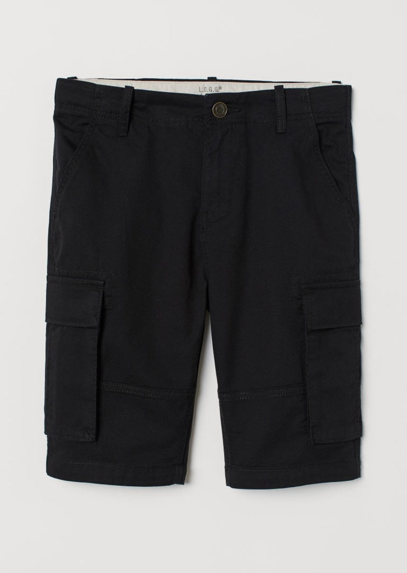 H&M H & M - Cargo Shorts - Black