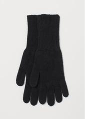 H&M H & M - Cashmere Gloves - Black