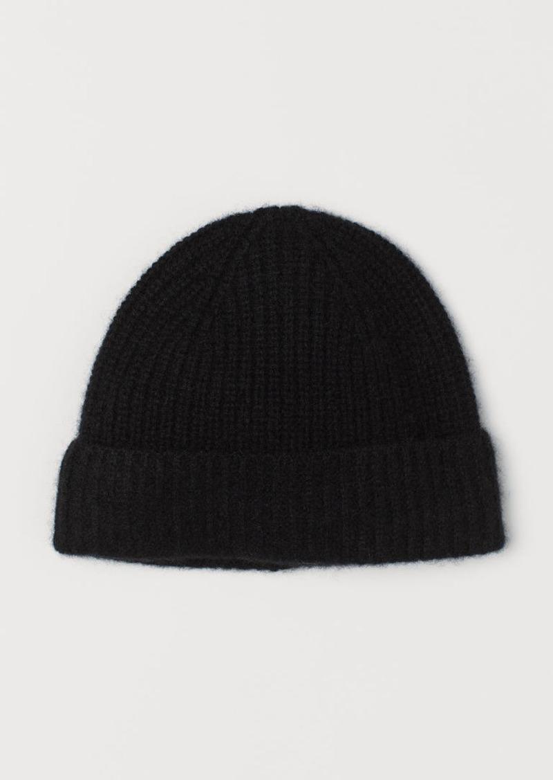 H&M H & M - Cashmere Hat - Black